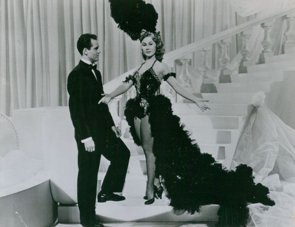 """Bob Graham and Mitzi Gaynor in """"The I Don't Care Girl"""""""