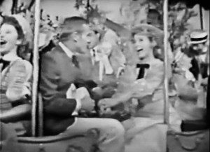 Tab Hunter and Jane Powell in the trolley song (yes this is about how the quality is.