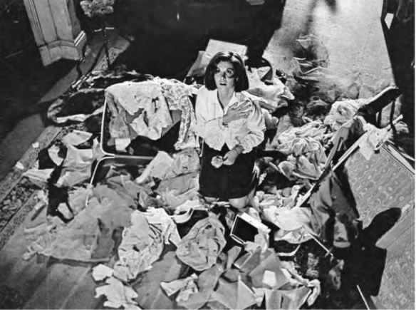 Stefanie Powers' clothes destroyed by Mrs. Trefoile and her maid, Kate.