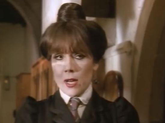 Diana Rigg as Miss Hardbroom.