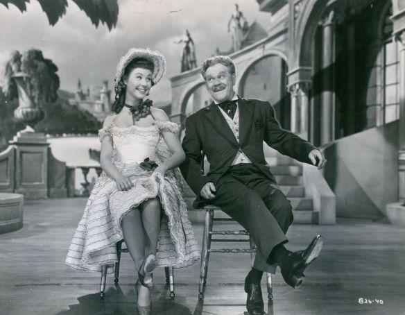Mitzi Gaynor dancing with James Barton.