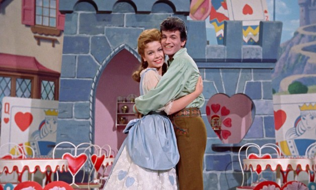 """Annette Funicello as Mary Contrary and Tommy Sands as Tom Piper in """"Babes in Toyland."""""""
