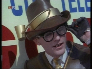 "Roddy McDowall guest starred as ""The Bookworm."""