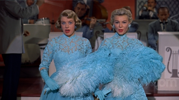 "Rosemary Clooney and Vera-Ellen in ""Sisters."" Clooney sang both parts of the song."