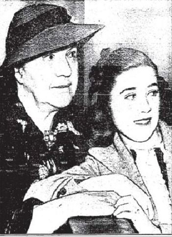 Edith Fellows, 14, and her grandmother in a 1937 newspaper clipping.