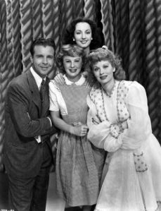 "Dick Powell, Virginia O'Brien, June Allyson and Lucille Ball in ""Meet the People"""