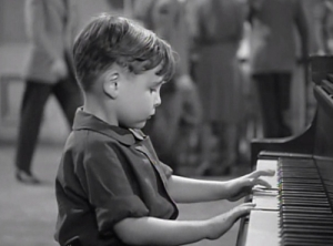 Child piano performer Richard Hall.