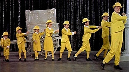 Bob Hope and the Seven Little Foys in the 1955 biographical film.