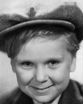 Jackie Cooper as a child star in the 1930s.