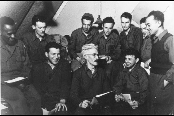 Staff of the Adak Newspaper that Hammett edited. (Photo Courtesy of Anchorage Museum)