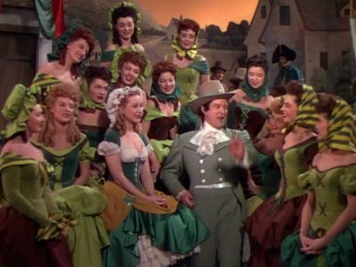 "Dennis Morgan performs in ""My Wild Irish Rose"" (1947)."