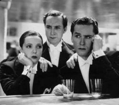 "Jessie Matthews, Sonny Hale and Griffith Jones in ""First a Girl"""