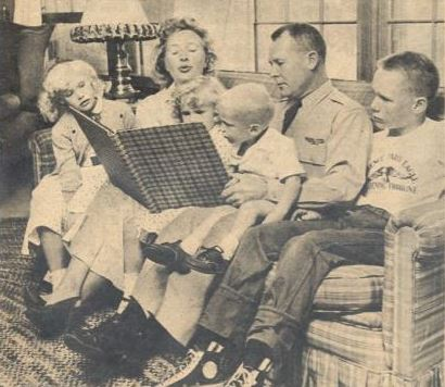 Priscilla Lane, her husband Joseph Howard and their children in 1958.