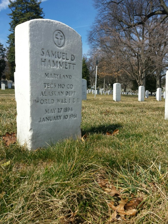 Author Dashiell Hammett's grave at Arlington National Cemetery in Washington, DC. (Comet Over Hollywood/Jessica Pickens)