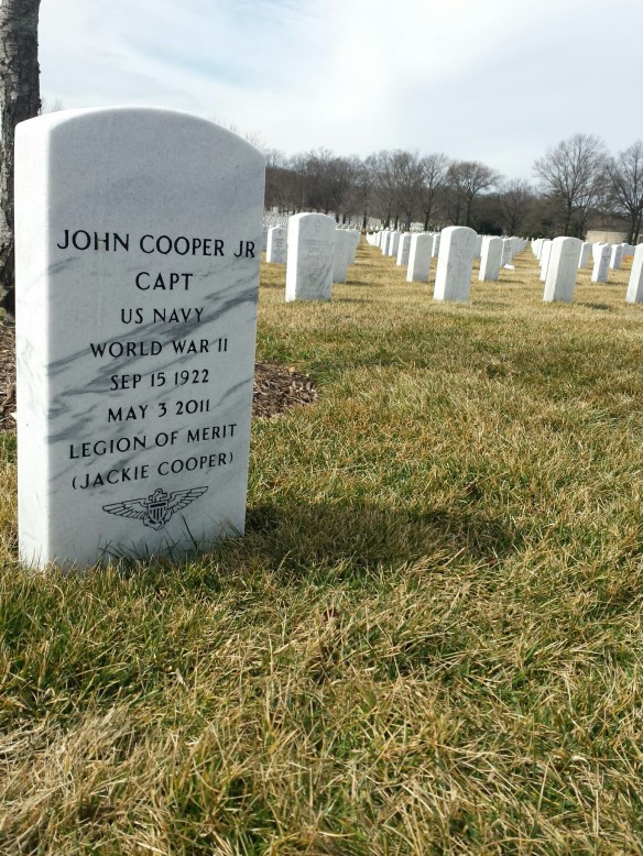 Jackie Cooper's grave in Arlington National Cemetery in Washington, DC. (Comet Over Hollywood/Jessica Pickens)