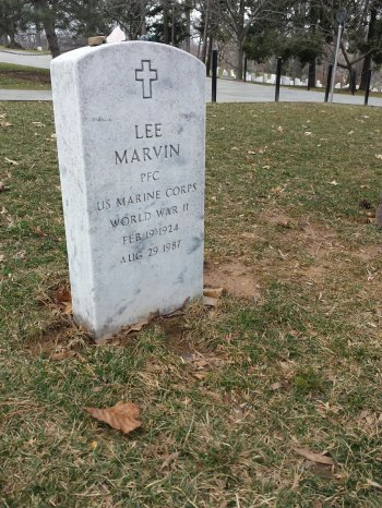 Lee Marvin's grave at Arlington National Cemetery, located just below the Tomb of the Unknown Soldier. (Comet Over Hollywood/Jessica P)