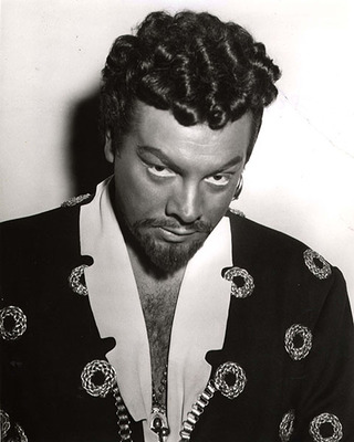 "Mario Lanza dressed in costume ""Othello."""