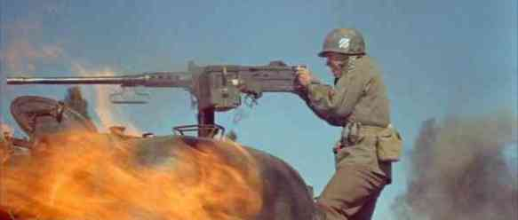 """Audie Murphy in """"To Hell and Back"""" (1955), the dramatization of Murphy's memoirs."""