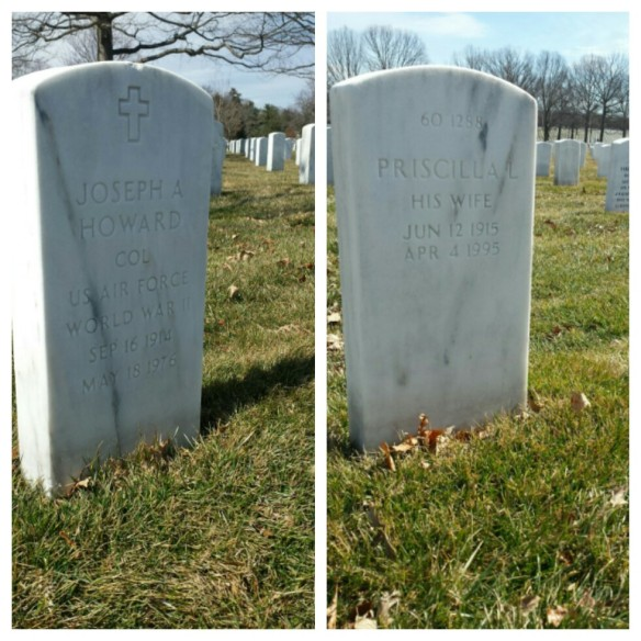 Joseph Howard died in 1976 and Priscilla Lane died in 1995. Both are buried in Arlington National Cemetery. (Comet Over Hollywood/Jessica P)