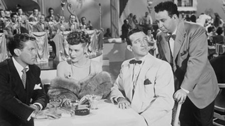 "Dick Haymes, Maureen O'Hara, Harry James in ""Do You Love Me."""