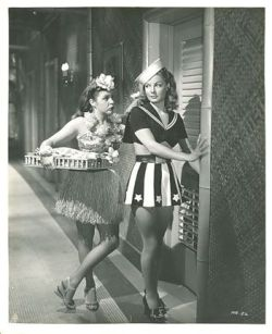 "Martha Raye and Ann Sheridan at the beginning of ""Navy Blues."" Unfortunately, neither has enough screen time for my liking."