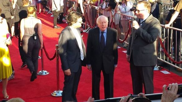 Norman Lloyd on the red carpet at TCMFF. (Comet Over Hollywood/Jessica P.)