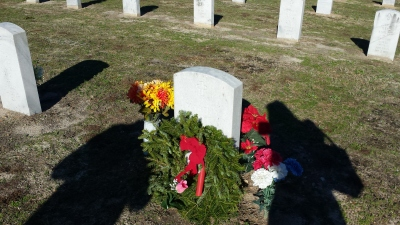 Martha Raye's headstone at Fort Bragg. I visited Raye's grave in December. (Comet Over Hollywood/Jessica P)