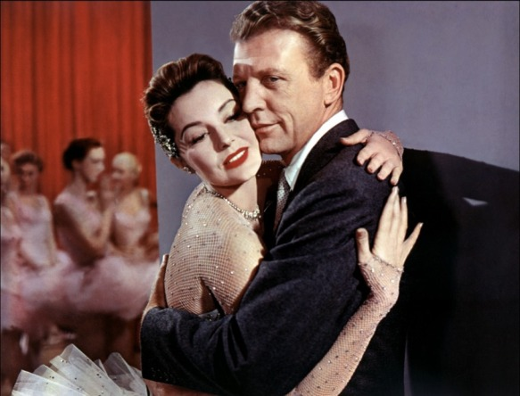 "Cyd Charisse and Dan Dailey in ""Meet Me in Las Vegas"" (1956)."