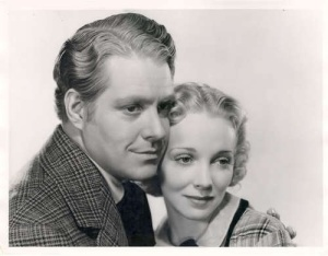 "Nelson Eddy and Virginia Bruce in ""Let Freedom Ring."""