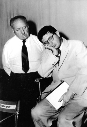 Alfred Hitchcock and Bernard Herrmann.