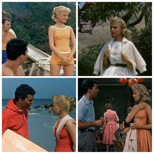 "Views of Sandra Dee in some of my favorite swimsuits and dresses from ""Gidget."""
