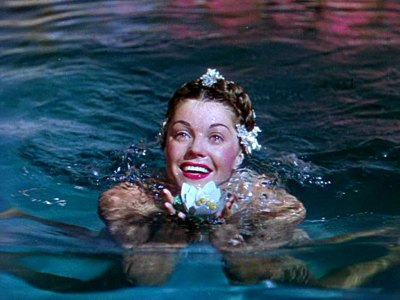 A never-before-published image of competitive swimmer and MGM movie star Esther  Williams
