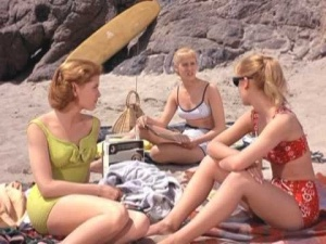 The only beach scene in the film.