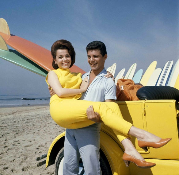 Annette Funicello and Frankie Avalon in their first beach film,