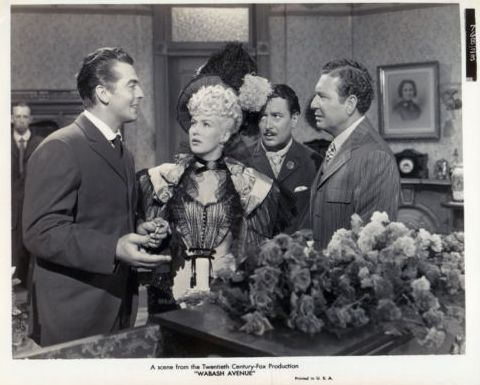 Victor Mature, Betty Grable, Reginald Denny and Phil Harris in