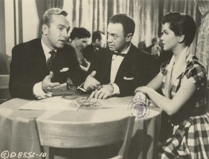 "Johnny Johnston, Alan Freed and Lisa Gaye in ""Rock Around the Clock"""