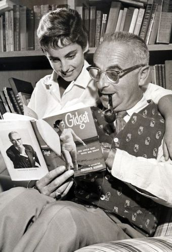 Screenwriter Frederick Kohner with his daughter Kathy, who served as inspiration for Gidget.