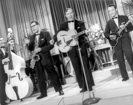 "Bill Haley and his Comets in the film ""Rock Around the Clock"" (1956)"