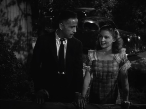 At age 15, Joan Leslie with Humphrey Bogart in