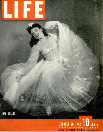 Joan Leslie on the cover of Life, Oct. 1942.