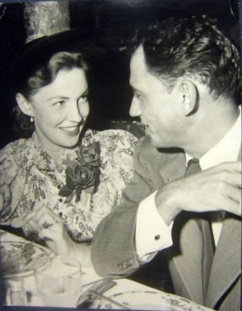 Joan Leslie with her husband William Caldwell, MD.