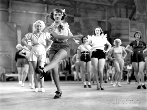 "Ruby Keeler dancing in ""Dames."""