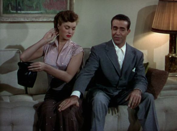 Esther Williams doesn't have time for Ricardo Montalban's games.