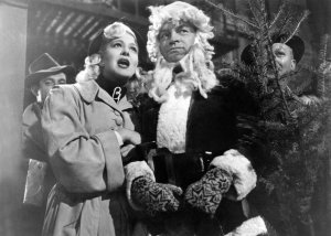 "Marilyn Maxwell and Bob Hope perform ""Silver Bells."""