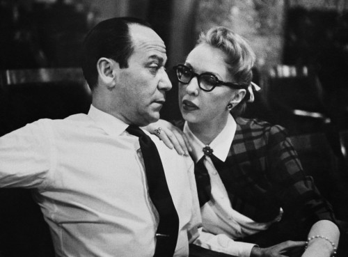 Frank Loesser and wife Lynn Garland in 1956 performing their song.