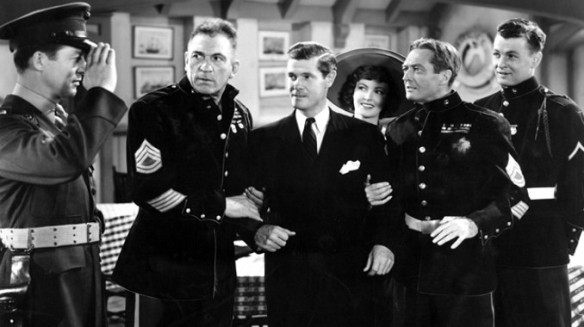 "McLaughlin, Kelly and Lowe in ""Call Out the Marines."""