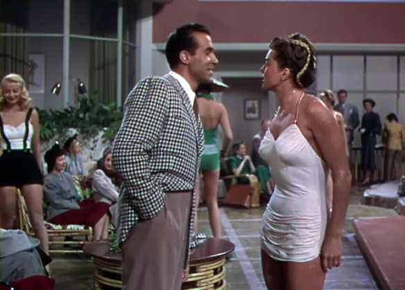 Ricardo Montalban and Esther Williams in what is clearly not a winter film.