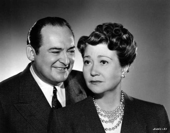 "Edward Arnold and Fay Bainter in a publicity shot for ""The War Against Mrs. Hadley."""