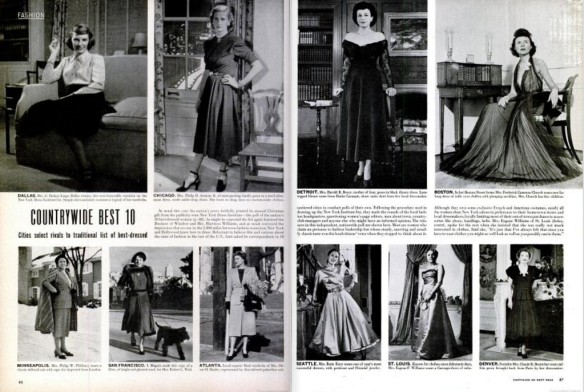 Top 10 Best Dressed women in the United States. (LIFE scan by Comet Over Hollywood)