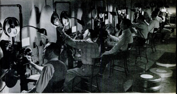 """The Lab"" by Ralph Crane, showing the development of film at Warner Brothers (Scanned by Comet Over Hollywood)"